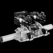 Комбинация двойных клапанов из одноступенчатого откидного клапана, пневмопривод, / 5 bar HF Bloc-...
