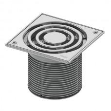 Декоративная решетка 150 мм в стальной рамке с фиксаторами с монтажным элементом