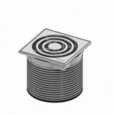 Декоративная решетка 100 мм в стальной рамке с монтажным элементом