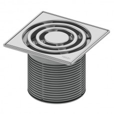 Декоративная решетка 150 мм в стальной рамке с монтажным элементом