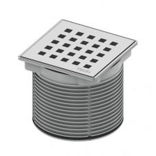 """Декоративная решетка """"quadratum"""" 100 мм с монтажным элементом"""