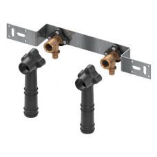 Монтажный комплект с настенными уголками для подключения смесителя